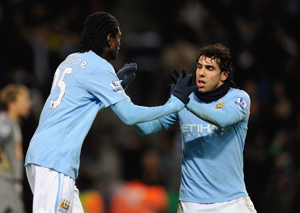 Tevez and Adebayor