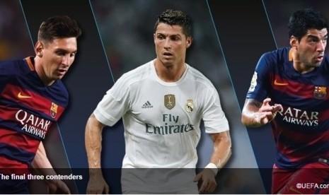 Messi, Ronaldo and Suarez